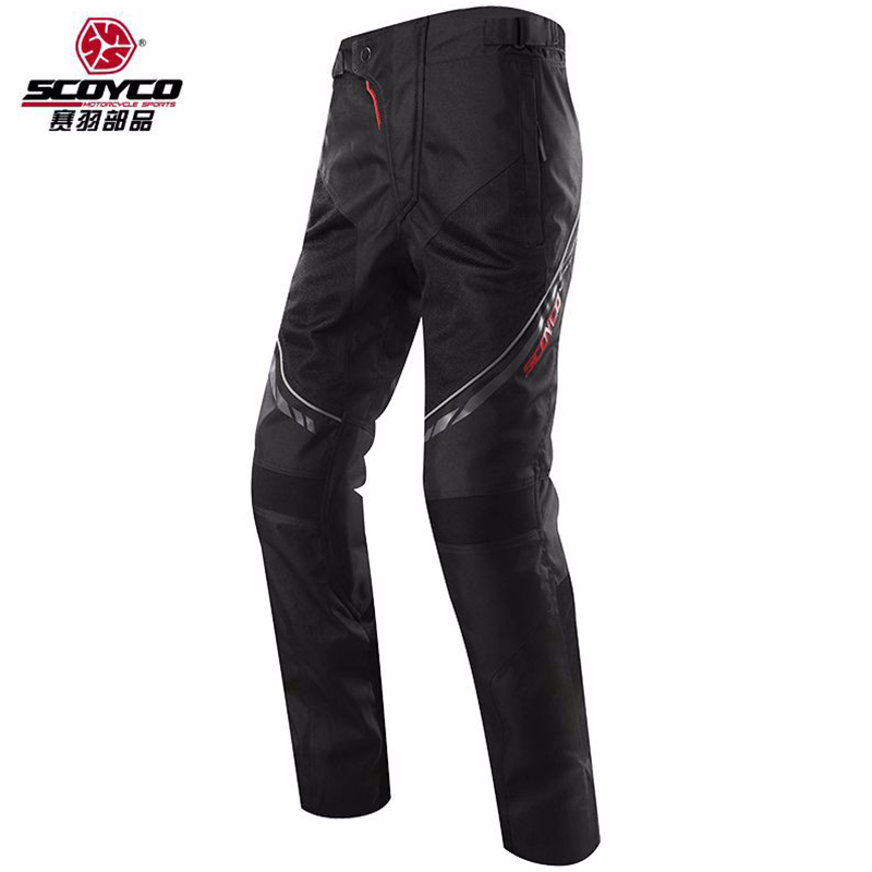 Scoyco Motorcycle Pants Protective Racing vertilation pants Trousers Sports Riding Wears Motorbike Accessories P027-2 scoyco mens motorcycle pants racing trousers winter summer p028