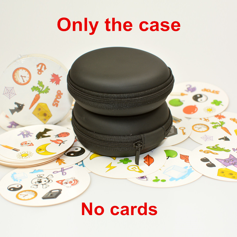 New Black Travel Zipper Carry EVA Case For Spot Cards It (no Cards) Round Game Cards Storage Collection Bag Nice Gift For Kids