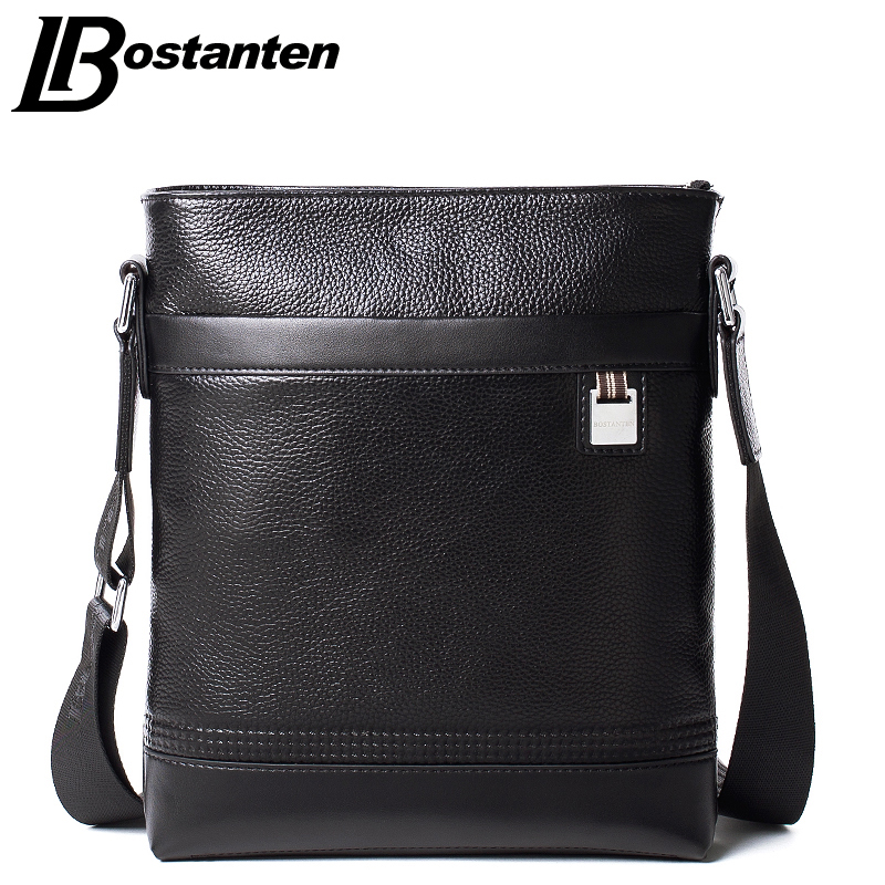 445d2f8ae159 Bostanten Business Genuine Leather Men s Messenger Bags Man Portfolio Office  Bag Quality Small Travel Shoulder Handbag for Man-in Crossbody Bags from ...