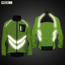 Купить с кэшбэком WOSAWE High visibility Reflective jacket Motorcycle Men's Windbreakers Light Weight Safety Motocross Mountain Bike Jacket
