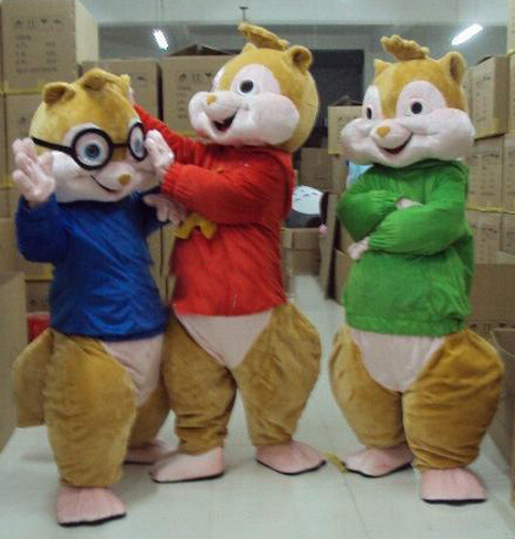 BING RUI CO Hot Sale! Nya Alvin and the Chipmunks Mascot Costume Alvin Mascot Costume Gratis frakt