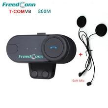 FDC T-COMVB 800m Moto BT Interphone Full Duplex Bluetooth Motorcycle Motorbike FM Helmet Intercom Headset Speaker+ Soft Earpiece