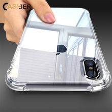 CASEIER Phone Case For iPhone X Anti-knock Soft Silicone Cover For iPhone XS MAX XR 8 7 6 6s Plus 5S 5 Clear Case Funda Capinha цена и фото