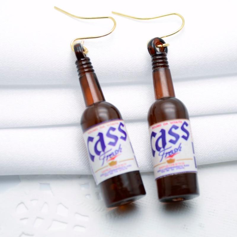 2019 Sommerstil Ny personlig ølflaske Formet Drop Earring Akryl - Mode smykker - Foto 4