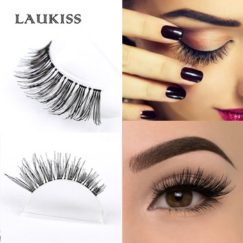 Laukiss eyelashes store small orders online store hot selling real human hair eyelashes 1 pair false eyelash extension kit faux cilia clear band eyelash tool set high quality laukiss pmusecretfo Image collections