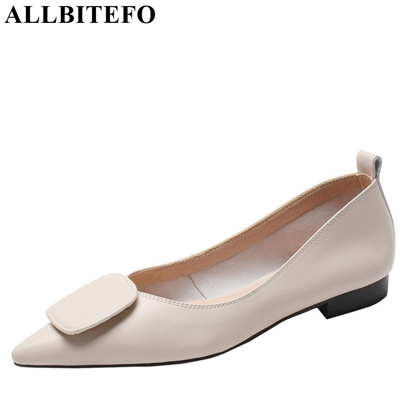 ALLBITEFO fashion brand genuine leather flat heel shoes slip-on concise women flats sneakers shoes fashion spring shoes flatsALLBITEFO fashion brand genuine leather flat heel shoes slip-on concise women flats sneakers shoes fashion spring shoes flats