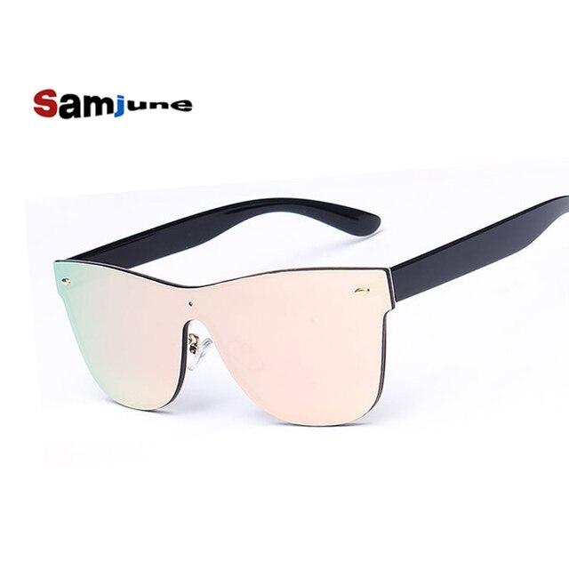 Espelho óculos de sol das mulheres óculos de sol de luxo Siameses Lente de  Óculos marca 576048bd0b