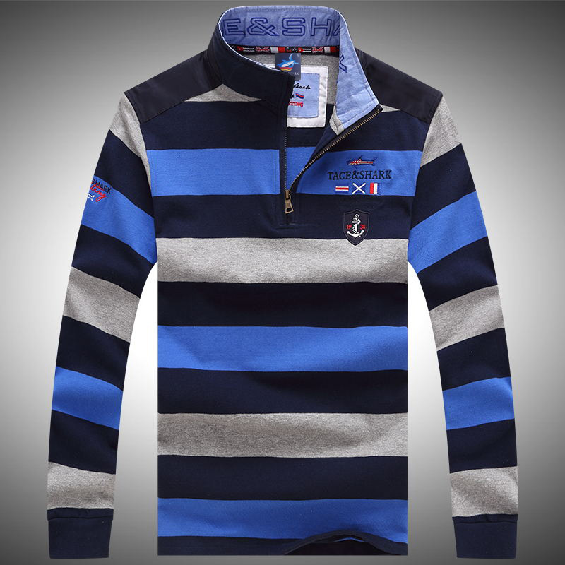 New Brand Men tshirt Solid Long Sleeve Slim Fit   T     Shirt   Mens Cotton shark   T  -  Shirt   Casual   T     Shirts   Plus size XXXL Brand Clothing