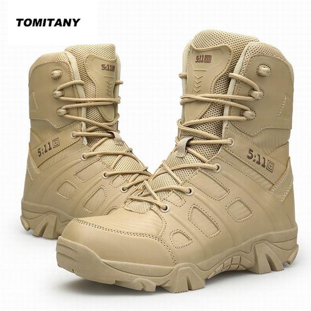 c2e89c9f61812 Trekking Hiking Shoes Men Outdoor Waterproof Camping Hunting Mountain  Climbing Sneakers Man Military 511 Tactical Boots Male
