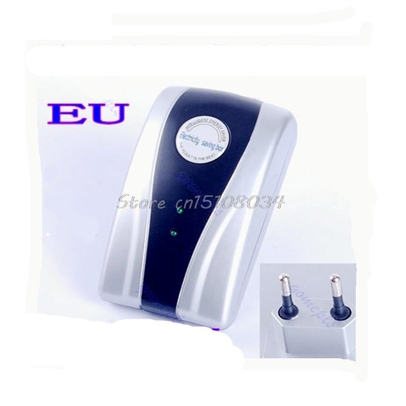 90V-250V Type Power Electricity Saving Box Energy Saver EU Plug New S08 Drop ship power saving electricity energy saver box uk plug 90 250v