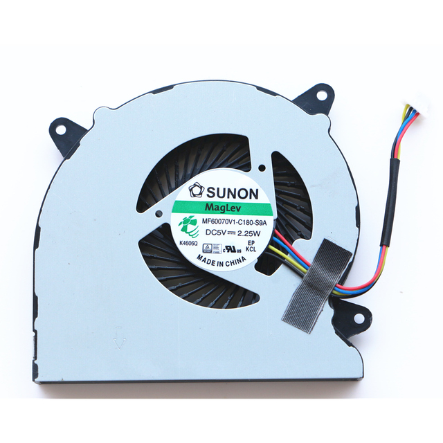 Новый оригинальный вентилятор охлаждения процессора для ASUS n550 n550j n550jv n550l N750 n750jv n750jk G550J G550JK охлаждающий вентилятор Cpu MF60070V1-C180-S9A