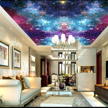 beibehang papel de parede 3d Custom wallpaper beautiful colorful multicolored clouds night sky ceiling wallpaper for walls 3 d цены