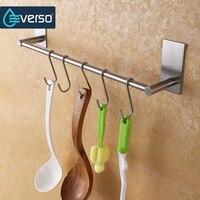 EVERSOStainless Steel Fixed Bath Towel Holder Bathroom Towel Bar Wall Mounted Towel Hanger Single Hook Dual