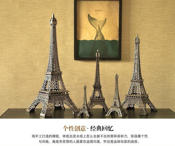 Home Decor Metal Crafts Creative Romantic Eiffel Tower Model Fashion ...