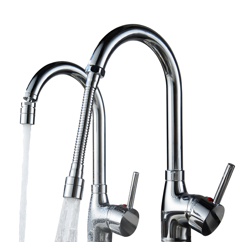 Faucet Spout All-copper Kitchen Faucet Spillback Extension Pressurized Water Saver Spray Household Filter Bubble