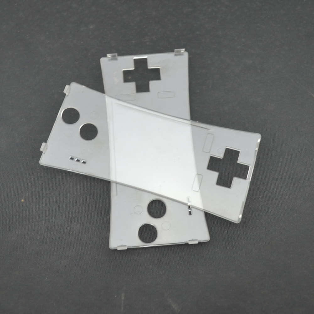 xunbeifang 10pcs a lot Clear Repair Front Shell Faceplate <font><b>Case</b></font> Cover for Gameboy Micro for <font><b>GBM</b></font> Front Panel image