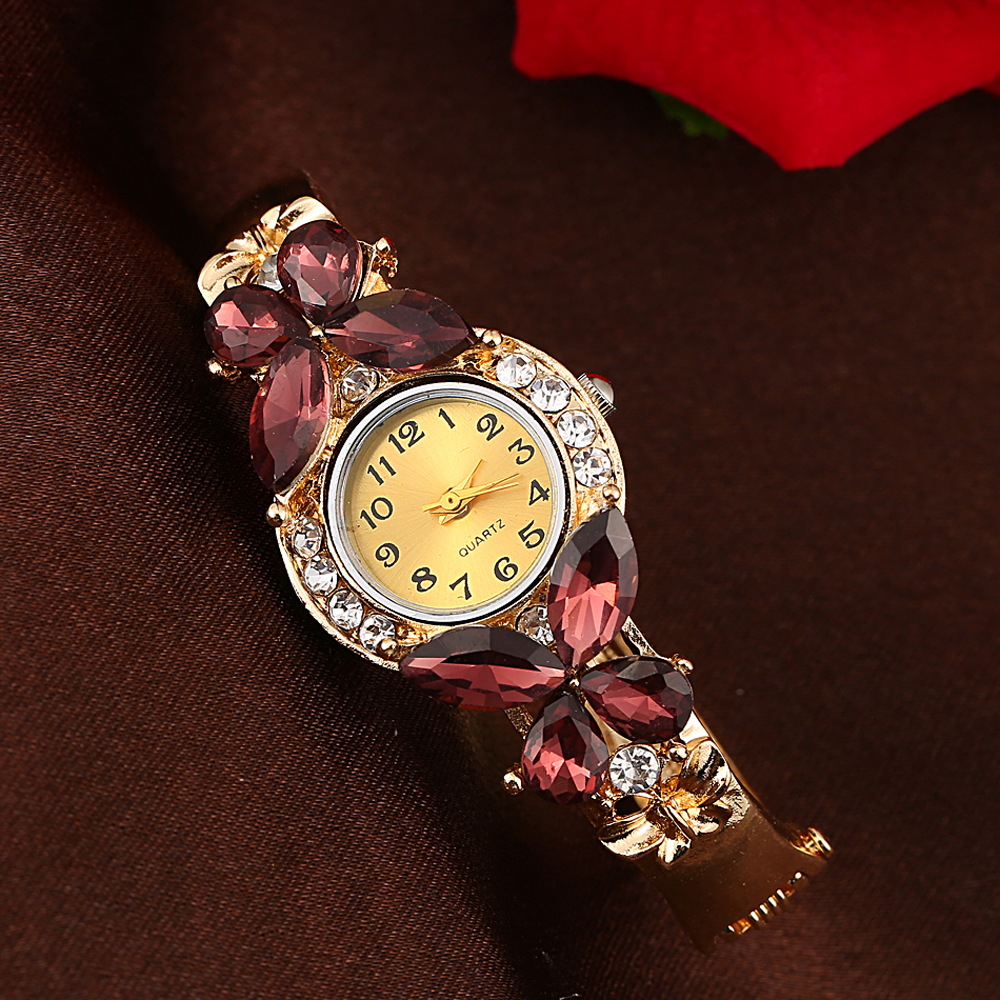 Top brand luxury 2018 Fashion Women Crystal Rhinestone Butterfly Bracelet Quartz Watch Wristwatch reloj mujer marcas famosas