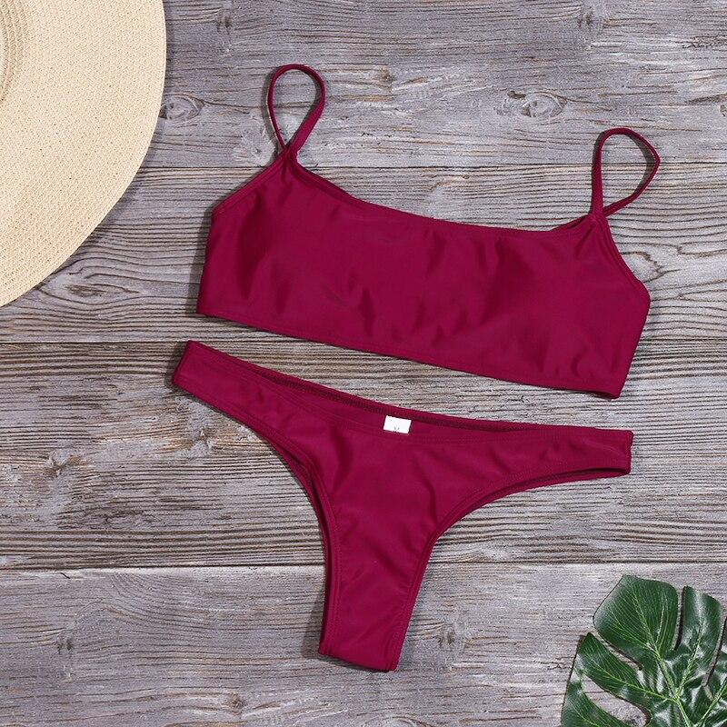 HTB1PItGV4TpK1RjSZFMq6zG VXaU Minimalism Le Sexy Micro Bikini Set 2019 Solid Swimwear Brazilian Bikinis Thong Beach Wear Woman Swimsuit Bathing Suit biquini