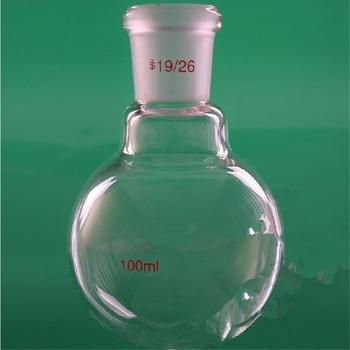 50 ml, 100 ml, 250 ml, 500,1000, 2000,5000ml 19/26, cuello simple, frasco de vidrio de fondo redondo, un cuello, suministros de laboratorio para recipientes químicos Boliling