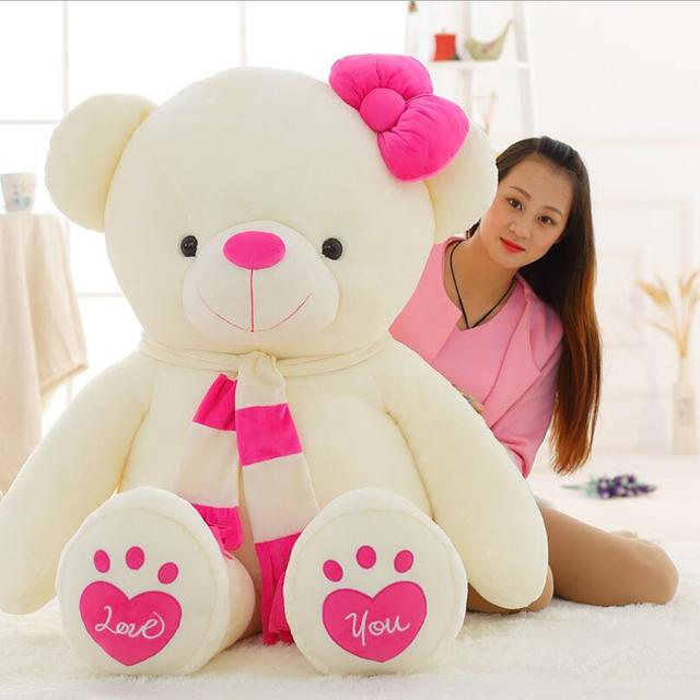 Ukuran besar Boneka Beruang Mainan Mewah Beruang Boneka Stuffed Animal Hug  Beruang valentine Hadiah Hari 20c37ba86d