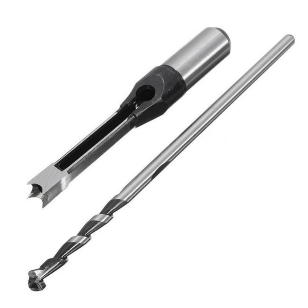 10mm/16mm Woodworking Square Hole Saw Auger Drill Bit Mortising Chisel Woodworking Tool 1PC air condition water pipe contrete 50mm wall hole saw drill bit 200mm square rod