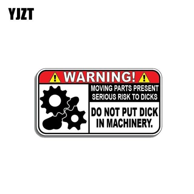 YJZT 10,4 CM * 5,5 CM Lustige Warnung In Maschinen Auto Aufkleber Reflektierende PVC Aufkleber 12 1172