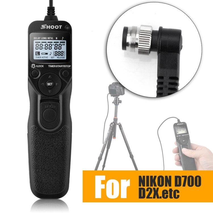 Timer remote shutter release control cavo del cavo per nikon d2hs d2h d1h d1x D1D800 d800e d810 d700 d300s d300 d200 d100 f5 f100