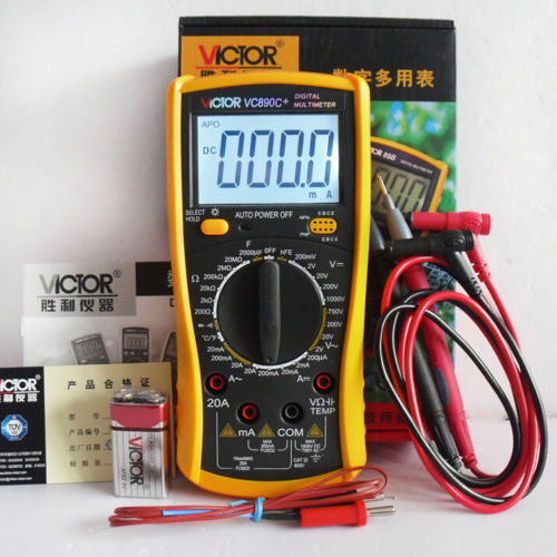 VICTOR VC890C+ Digital Multimeter True multimeter capacitor temperature measurement multimeter digital professional digital multimeter tm86