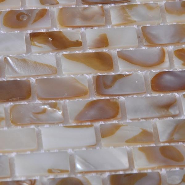tira de xmm patrn de ladrillo metro nacarado natural shell mosaico de azulejos para bao cocina