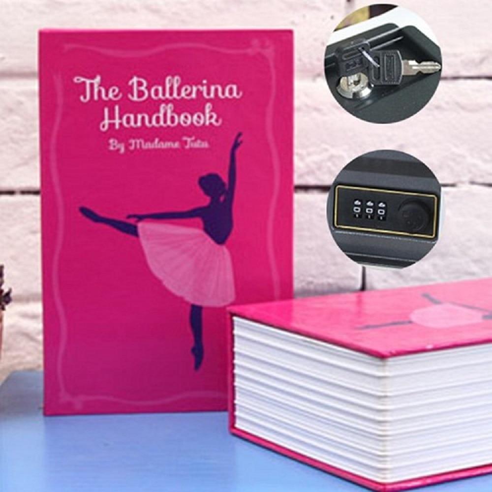 Book Safe Box Secret Hidden Security Safe Lock Cash Money Jewellery Locker Box M Size Piggy Bank Security Christmas Gift
