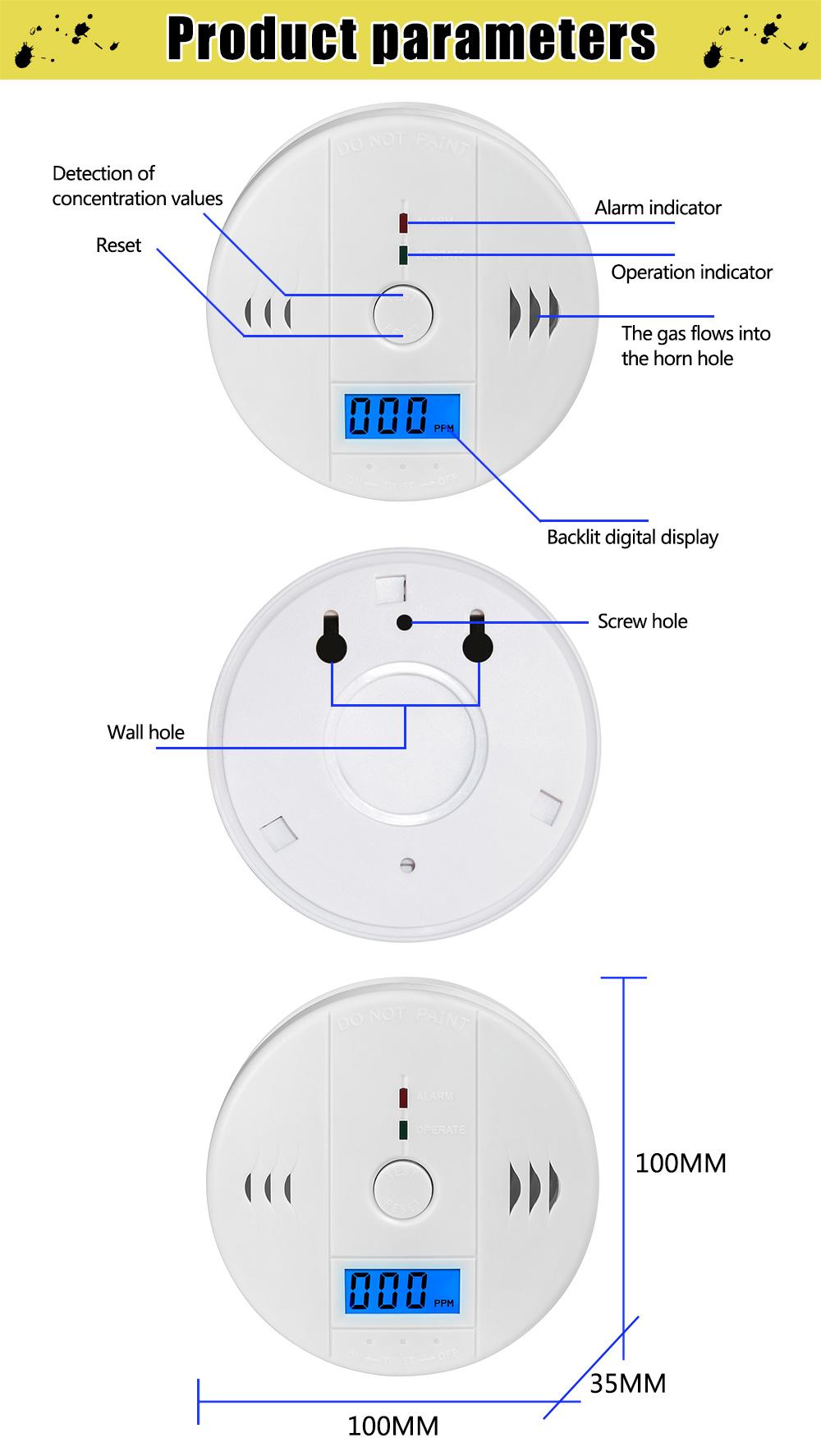 Carbon Monoxide Alarm Detector 2