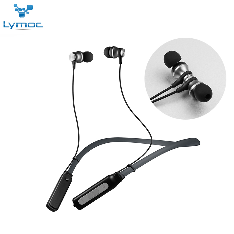 LYMOC Neckband Headsets Bluetooth Wireless Earphone Magnet Dynamic Surging Bass Music Sport Phone Headphone Handsfree MIC Apt-X economic set original nia q1 8 gb micro sd card a set bluetooth headphone wireless sport headsets foldable bluetooth earphone