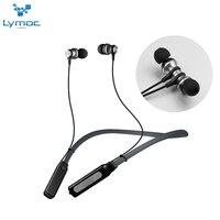 LYMOC Neckband Headsets Bluetooth Wireless Earphone Magnet Dynamic Surging Bass Music Sport Phone Headphone Handsfree MIC