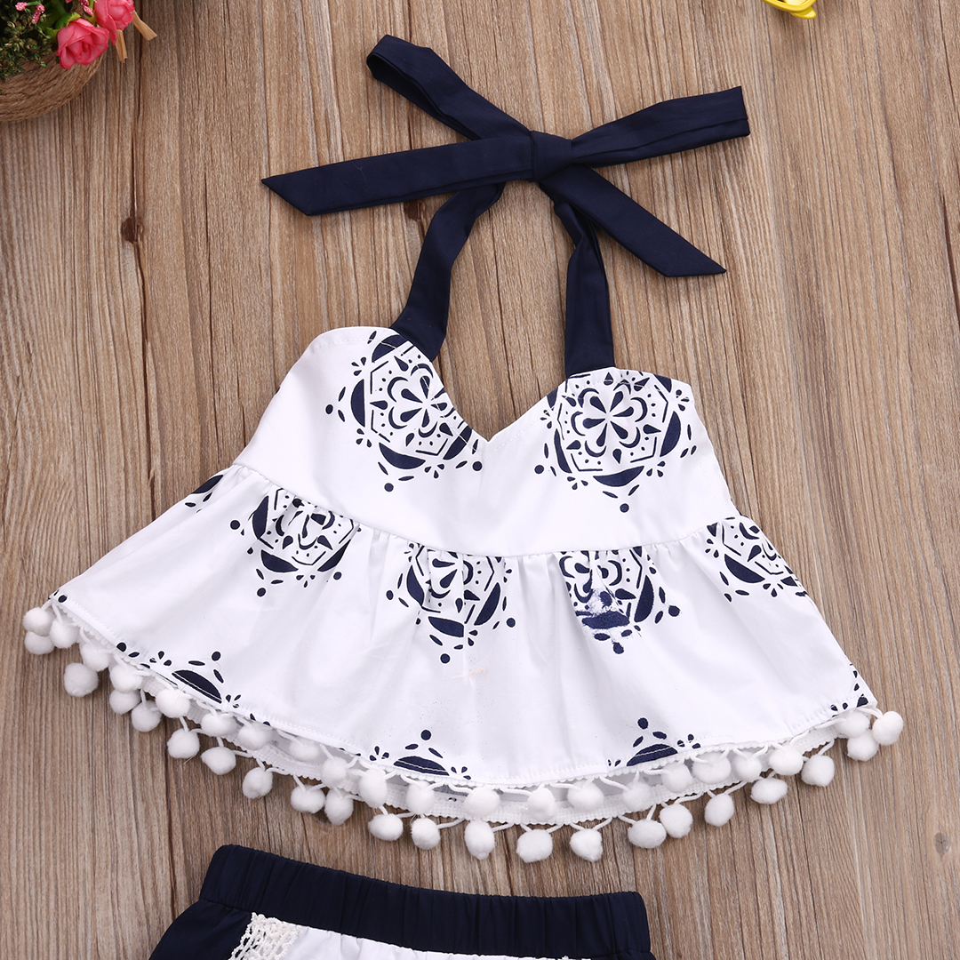 Toddler baby Girls Clothes Tank Top T shirt Sleeveless Belt Shorts Infant  Cute Clothing Baby Girl 2pcs Outfit Set-in Clothing Sets from Mother   Kids  on ... b7a4f5029d