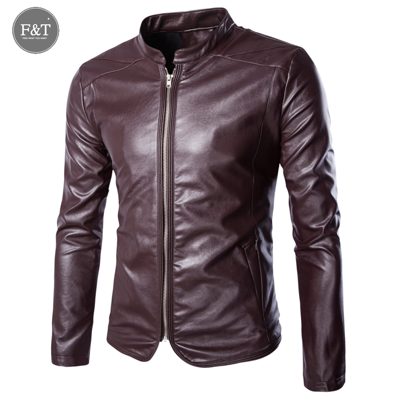 [Asian Size] Plus Size 4XL 5XL Winter Leather Jacket Men Casual Solid Motorcycle Jacket Coats Mens Stand Collar Jaqueta De Couro