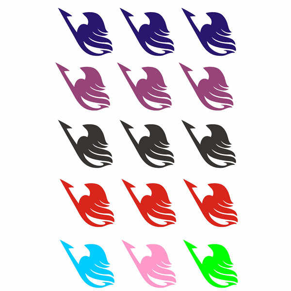 4pcs Anime Fairy tail cos Etherious Natsu Dragneel Erza Scarlet Wendy Marvell Feioulei Demone gatto cosplay temporaneo tatto sticker