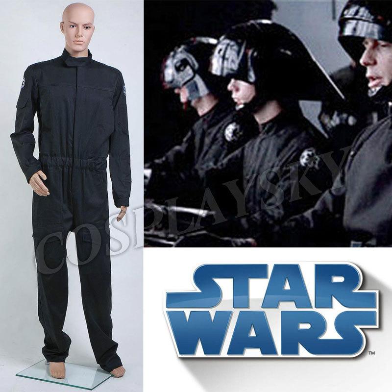 Star Wars Imperial Flightsuit Cosplay Costume Man Jumpsuit Black Pilot Uniform Halloween Suit