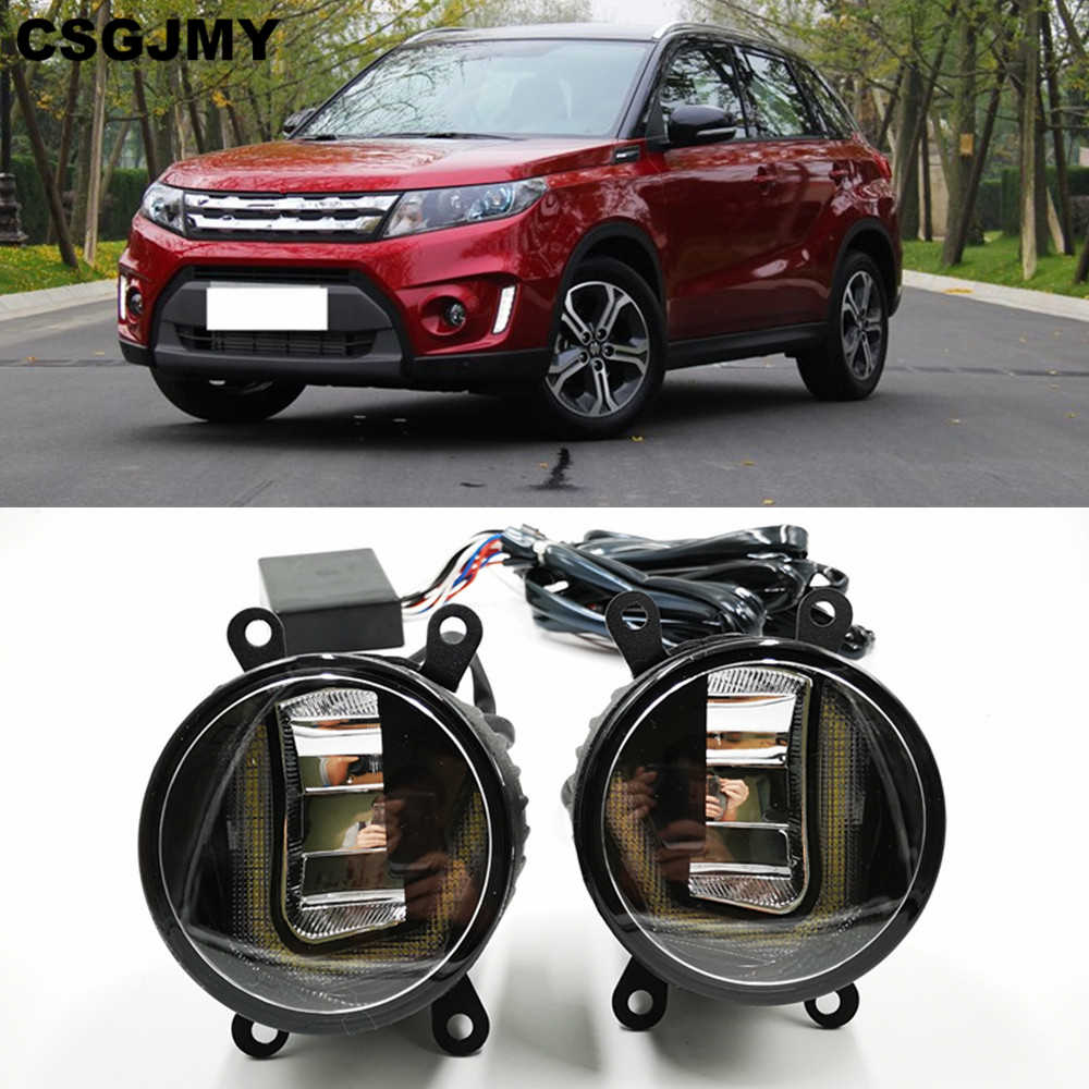 3-IN-1 Functions LED For Suzuki Vitara 2015 2016 2017 2018 DRL Daytime Running Light Car Projector Fog Lamp turn signal light