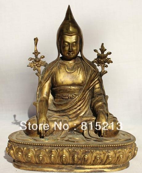 bi00482 10 Old Tibet Tibetan Bronze 24k Gilt Je Tsongkhapa Lama Teacher Buddha statuebi00482 10 Old Tibet Tibetan Bronze 24k Gilt Je Tsongkhapa Lama Teacher Buddha statue
