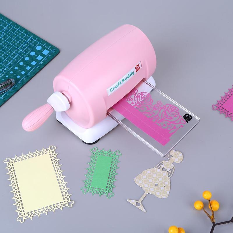 Bricolage en plastique papier coupe gaufrage Machine artisanat Scrapbook Album Cutter meurt Cutter papier carte découpé Machine meurt outils D3