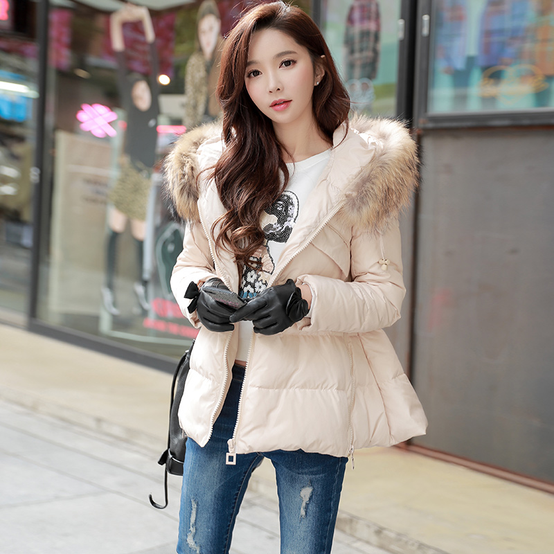 original 2018 brand chaqueta mujer winter jacket women fashion real fur collar casual thick warm down coat women wholesale