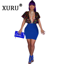 XURU New Products Womens Sequined Dress Ou Nightclub Party Shiny Low-cut (Ganelli)