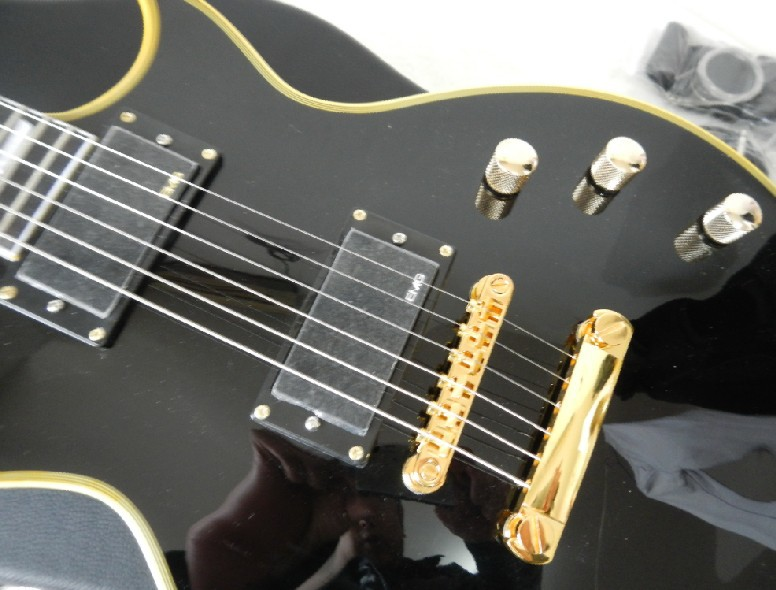 Free shipping Custom shop Ebony fingerboard ESP ECLIPSE black electric guitar with Hard Case