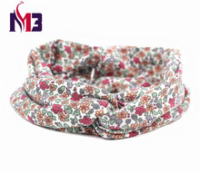 Fashion Women Twist Headband Ladies Hair Band Hoop Stretch Knitted Printed Floral for Accessories
