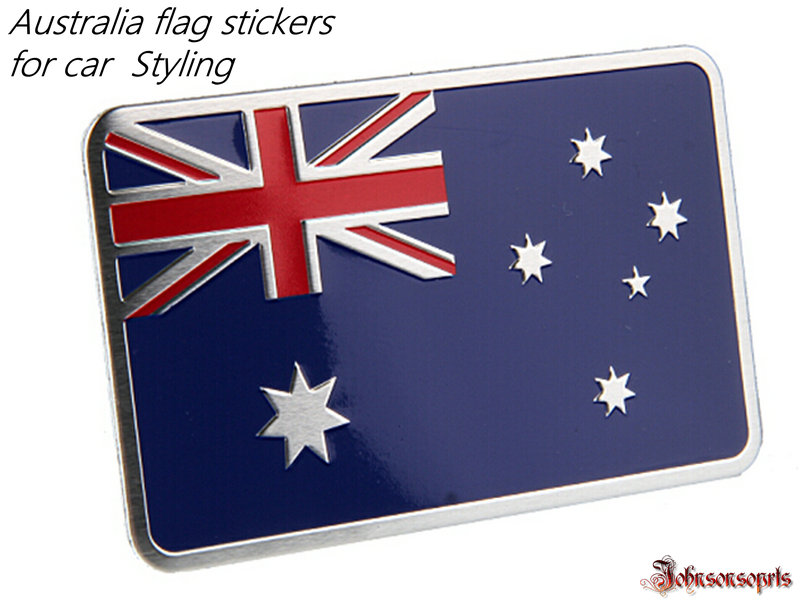1 pcs canada australia spain sweden flag sticker aluminum alloy flag badge emblem decal car stickers 80x 50mm for car styling in car stickers from