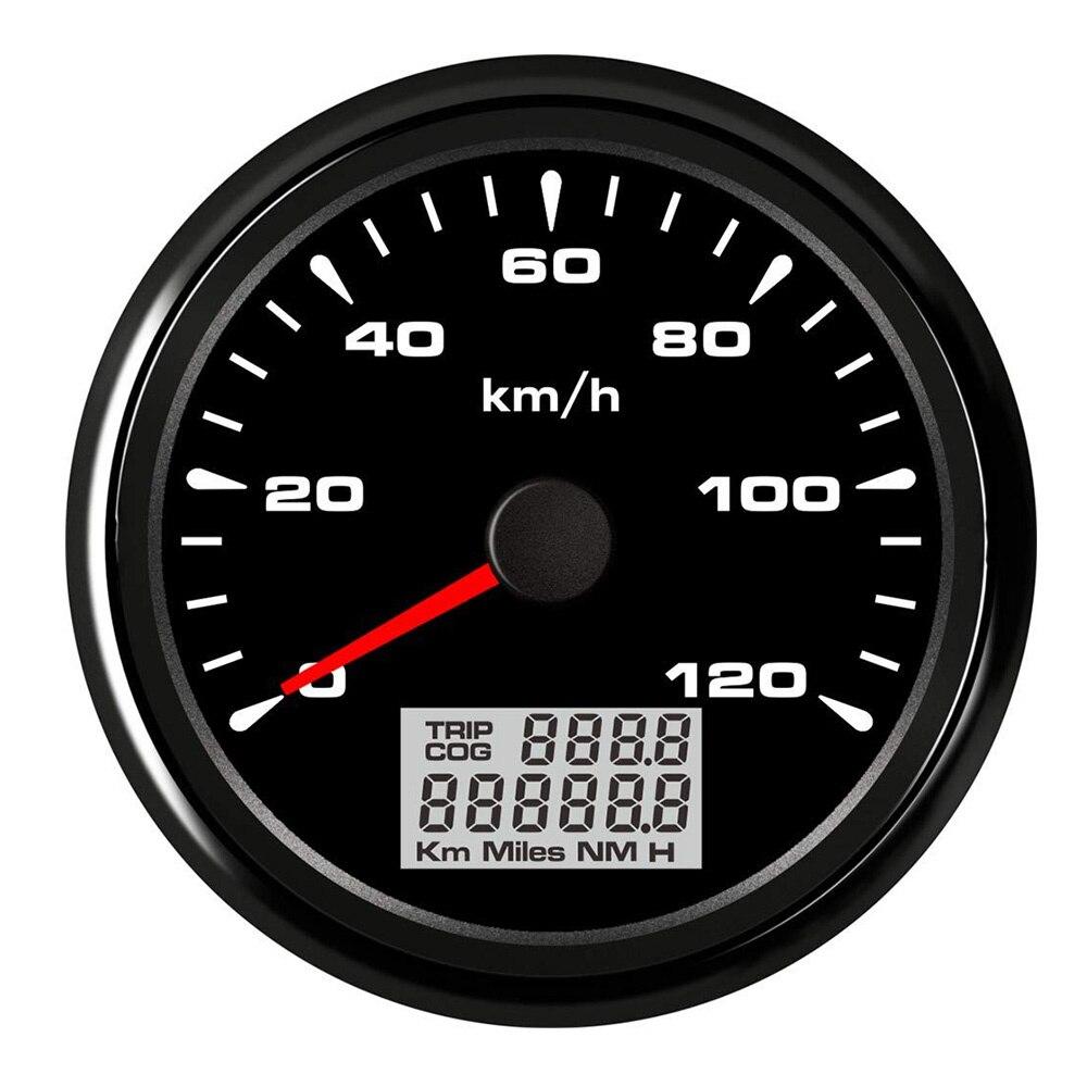 85mm LCD Display Digital Speedometer Car Marine Boat GPS Speed Odometers 120km h 200km h Speed