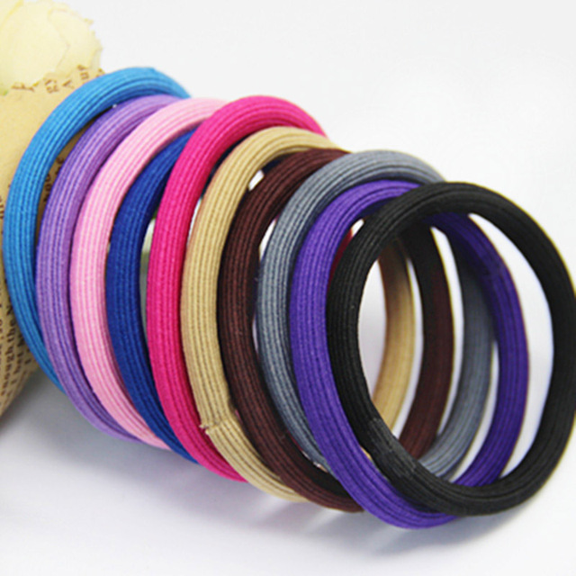 50PCS 5mm Round Elastic Ponytail Holders rope with gluing connection ... 977890d5bdc