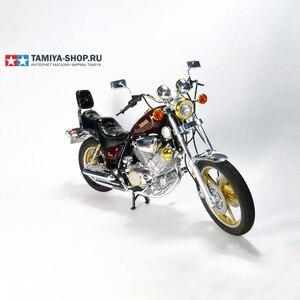 Image 2 - أطقم تجميع نموذج الدراجة النارية 1/12 مقياس ياماها XV1000 Virago معدات بناء المحرك ذاتية الصنع Tamiya 14044