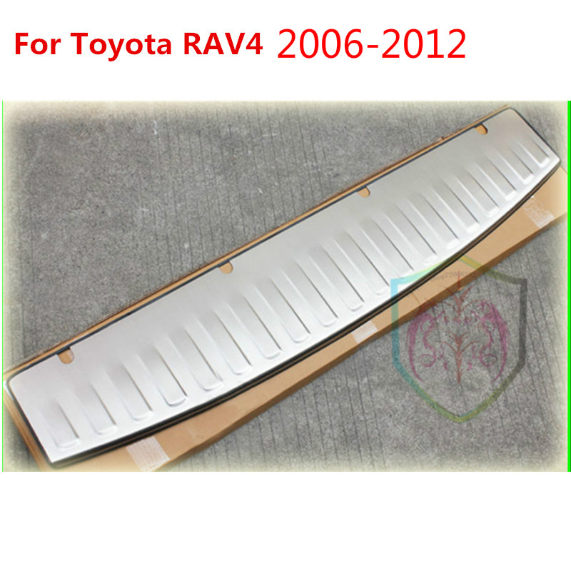 For <font><b>Toyota</b></font> <font><b>RAV4</b></font> 2006 2007 2008 2009 <font><b>2010</b></font> 2011 2012 High quality stainless steel Rear bumper Protector Sill image