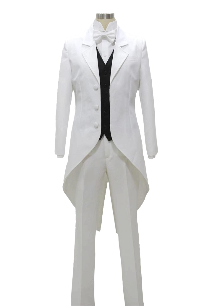 Pandora Hearts Nightray Dukedom Elliot Nightray White Uniform Anime Cosplay Costume
